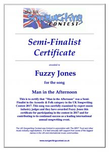 Semi-Finalist in UK Songwriting Contest 2017
